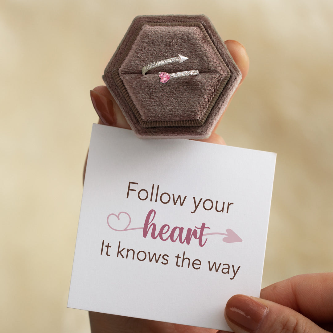 Arrow & Heart Ring - Your Heart Knows The Way