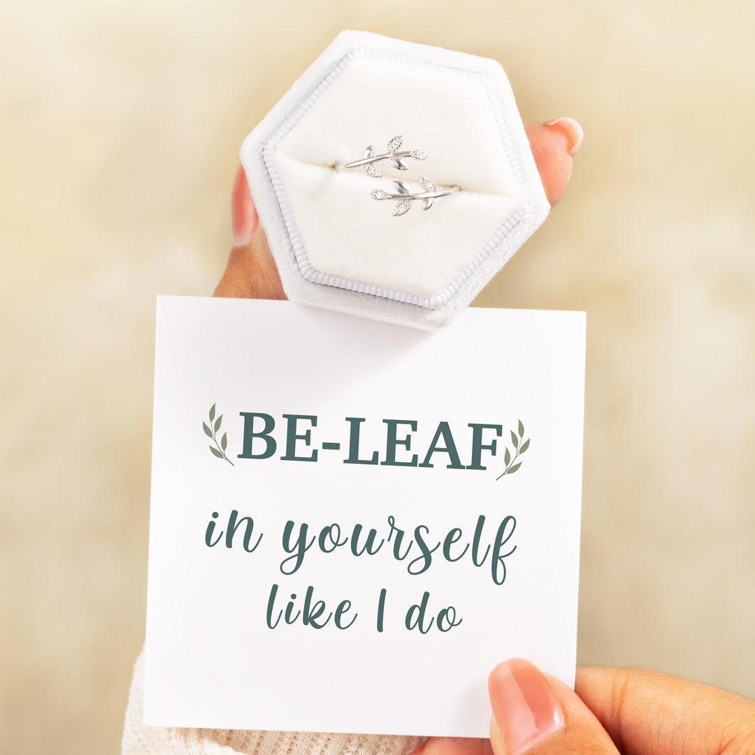 Leaf Ring-Be-Leaf In Yourself