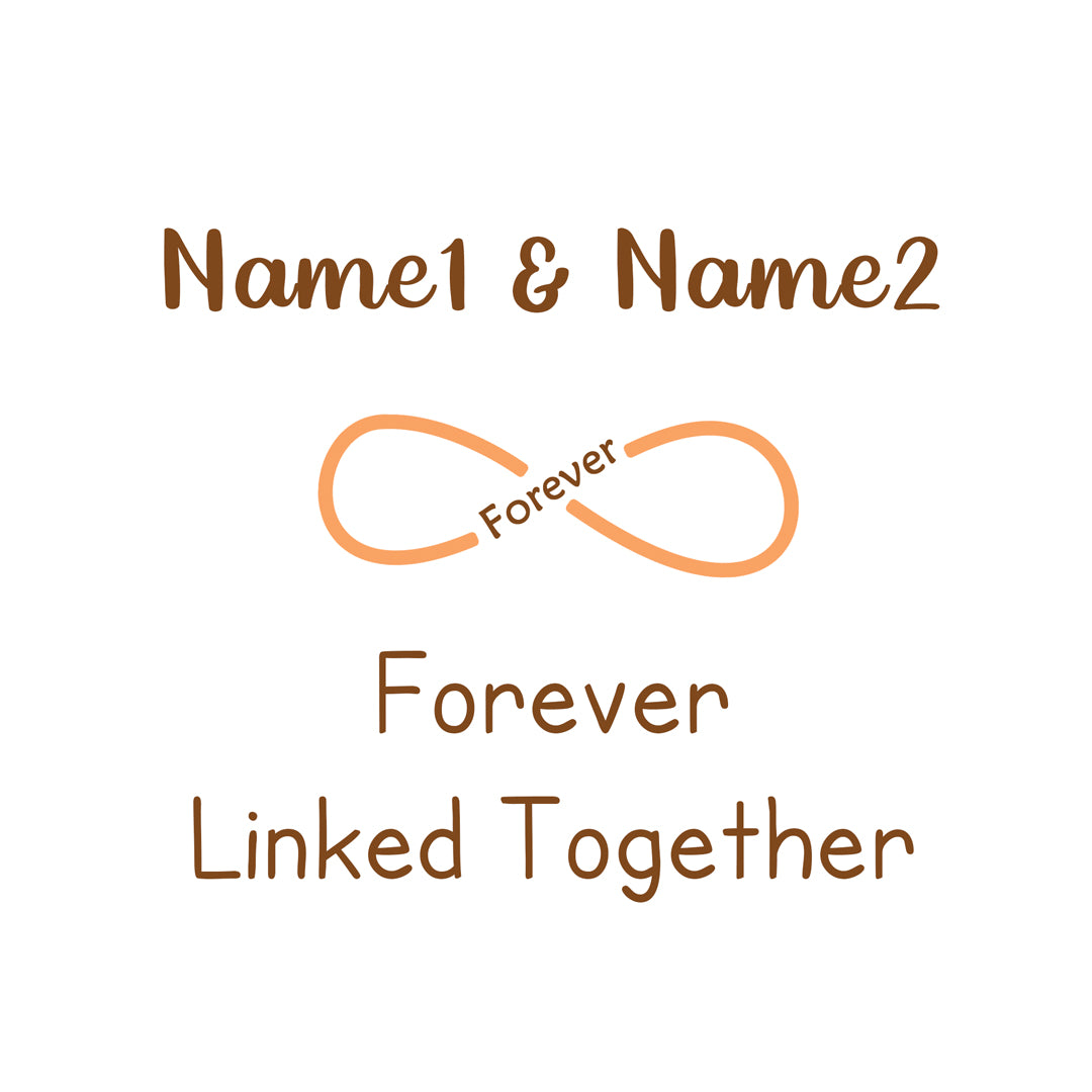 Personalized Forever Linked Together Ring