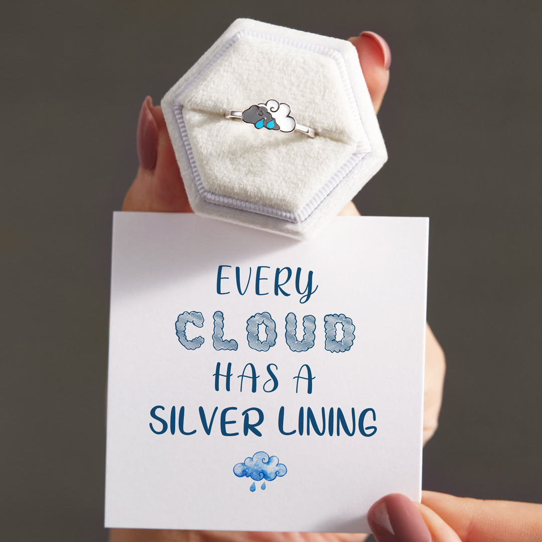Double Cloud Ring-Every Cloud Has a Silver Lining