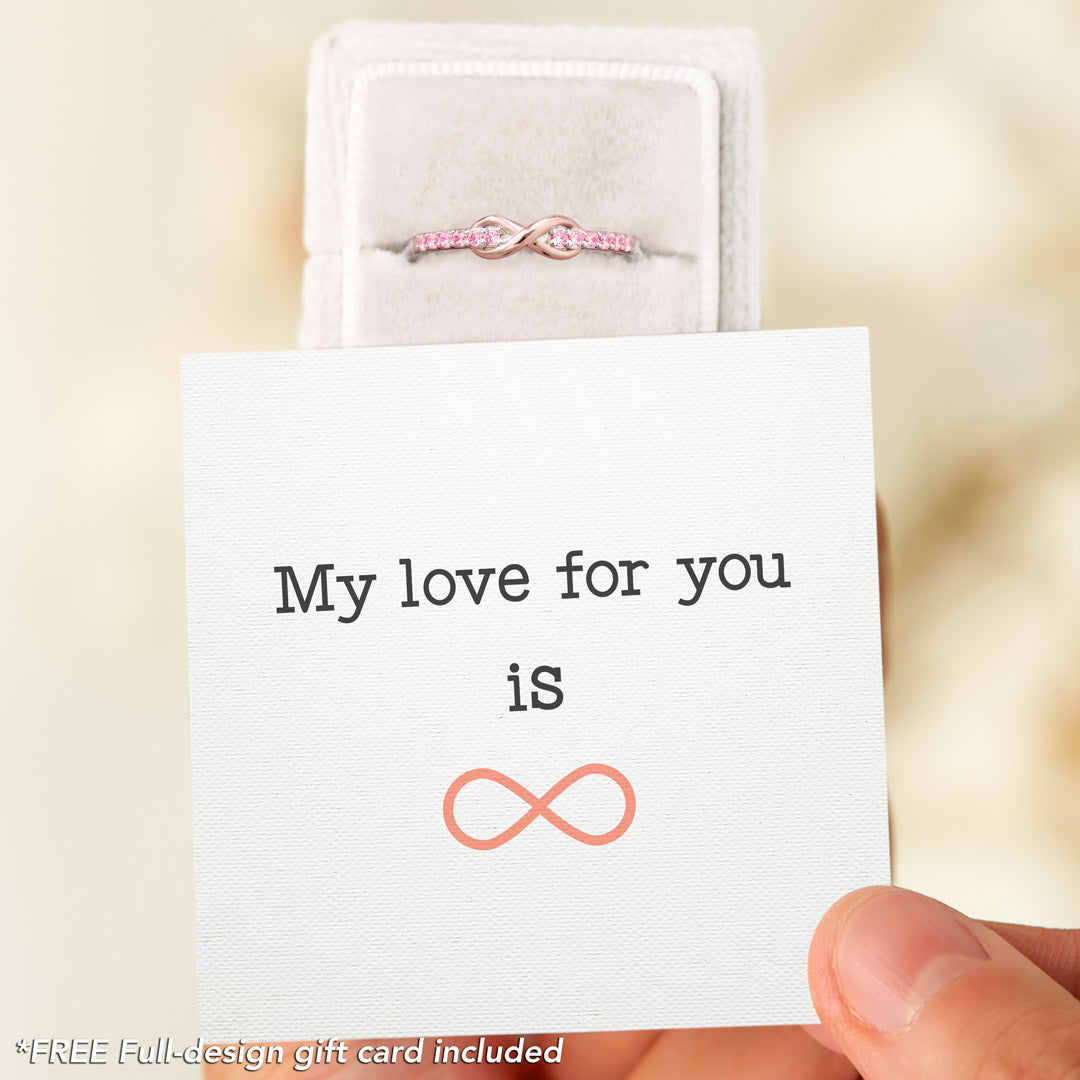Infinity Band Ring - My Love for You is Infinite