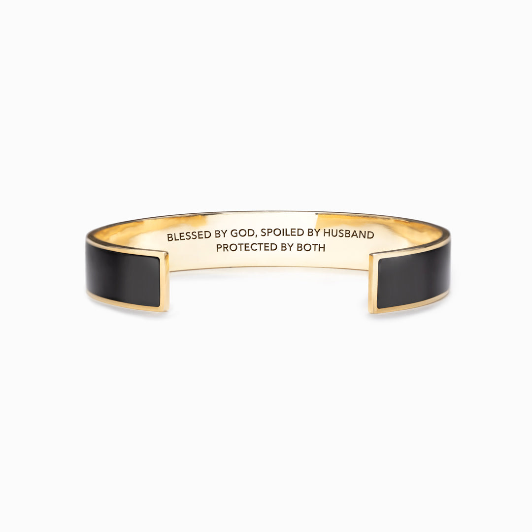 God Is Good Bangle - Blessed By God Spoiled By Husband