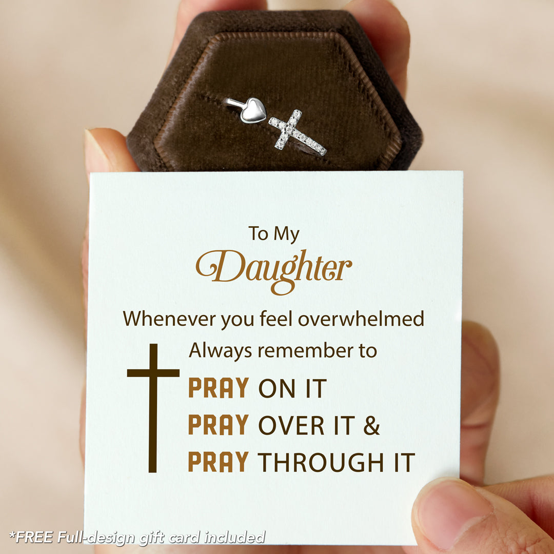 To My Daughter Pray On It Ring - 40% Off Code: Cross40