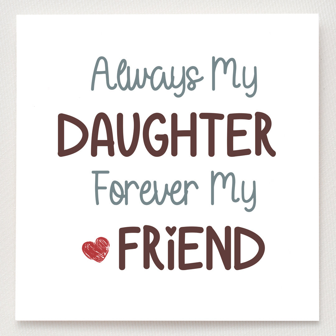 Knot Ring - Always My Daughter Forever My Friend Endless