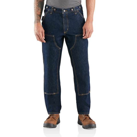 CARHARTT RUGGED FLEX RELAXED FIT DOUBLE FRONT LOGGER JEANS