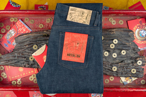 NAKED & FAMOUS CHINESE NEW YEAR - METAL OX SELVEDGE
