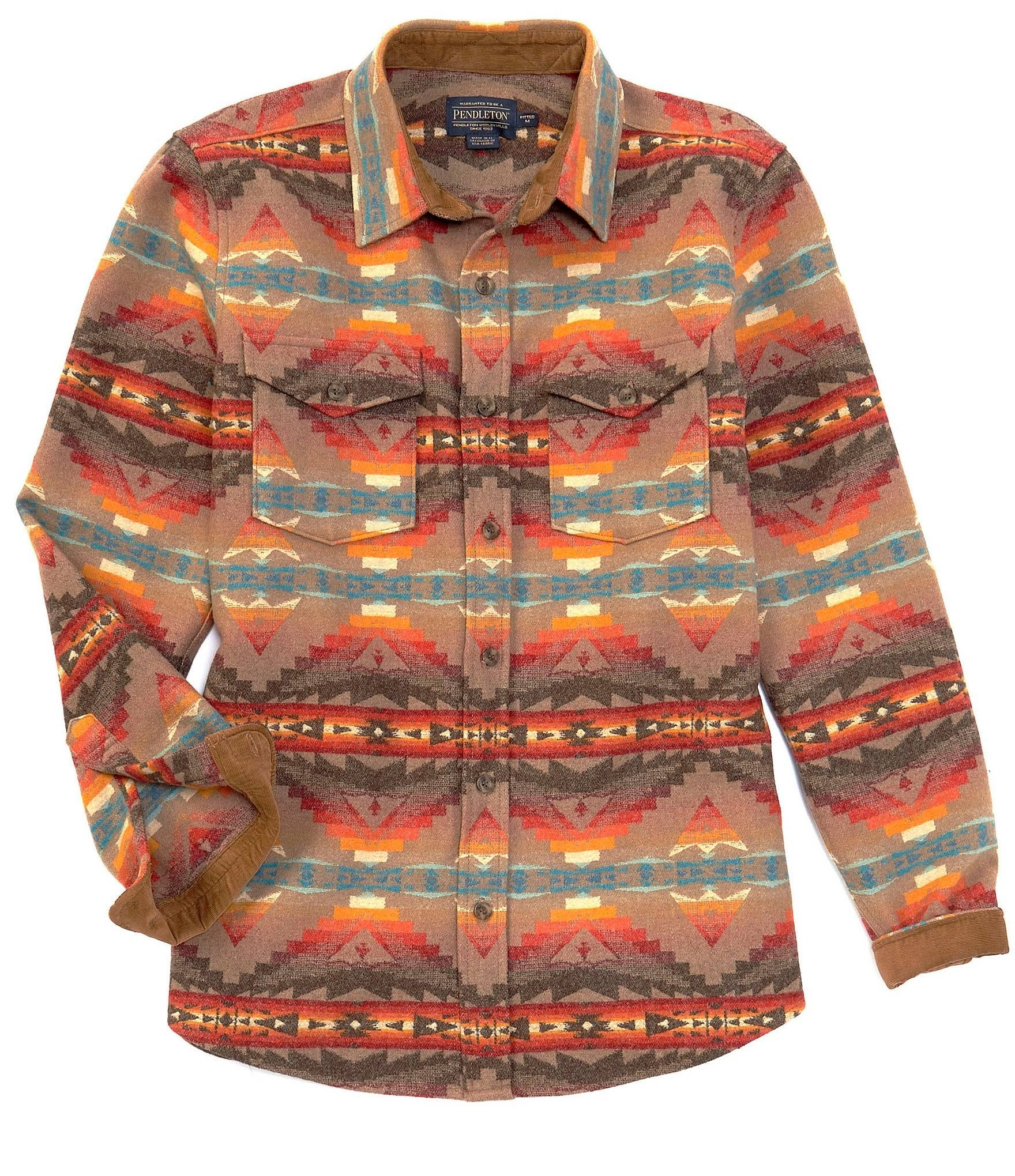 PENDLETON MEN'S FITTED LA PINE OVERSHIRT TAN SIERRA RIDGE