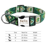 Luxury Style Personalized Reflective Dog Collar with Engraved ID Nameplate For Small and Large Dogs - Hound Hammock