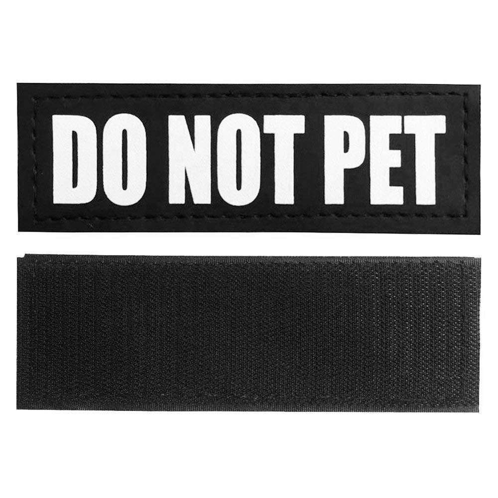 Reflective Velcro Dog ID Patches for Dog Collar Harness Vest. Service Dog In Training, Therapy Dog, Do Not Pet, Service Dog - Hound Hammock