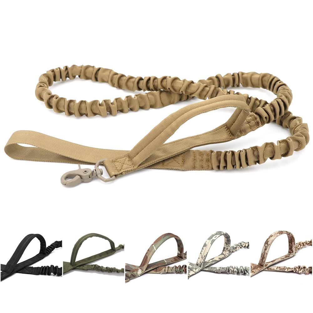 Tactical Bungee Dog Leash 2 Handle Quick Release Elastic Leads Training Leashe - Hound Hammock