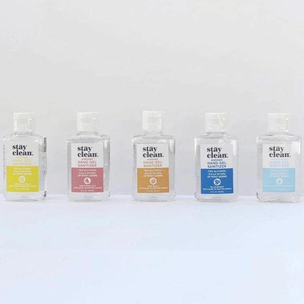 Moisturizing Hand Gel Sanitizer (Variety), 2 FL. OZ. (59 ML) - 6 pack - Stay Clean