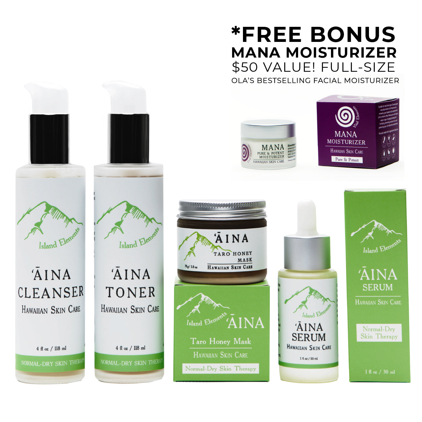 ʻĀina Anti-Aging Skincare Set with Free Mana Moisturizer