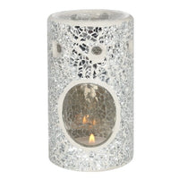 SILVER CRACKLE BURNER