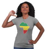 Unisex Heavyweight T Shirt - Africa (Red, Yellow, Green)