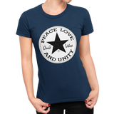 Unisex Heavyweight T Shirt - Peace, Love, Unity - Good Vibes