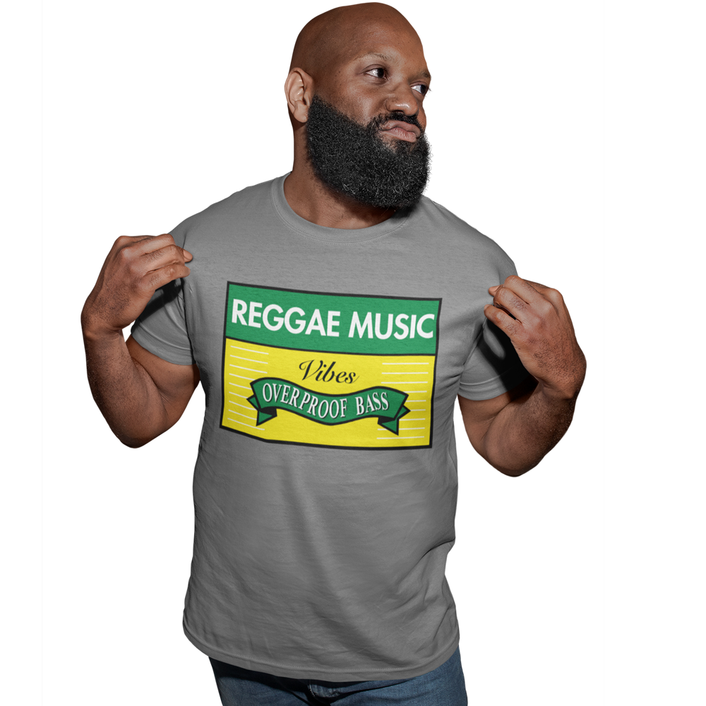 "Unisex Heavyweight T Shirt - Reggae Music ""Overproof Bass"""