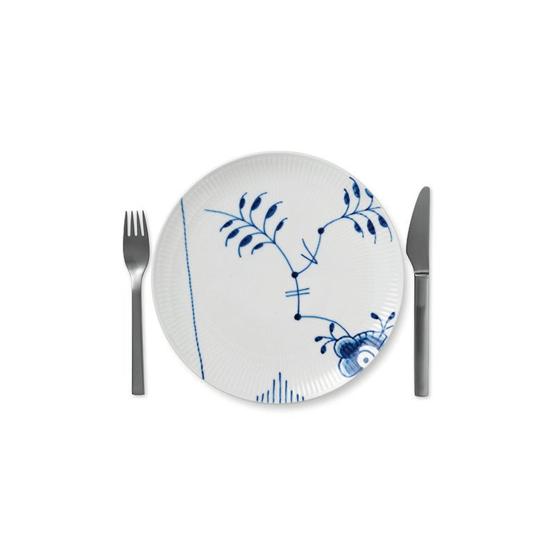 Blue Fluted Mega Coupe Lunch Plate