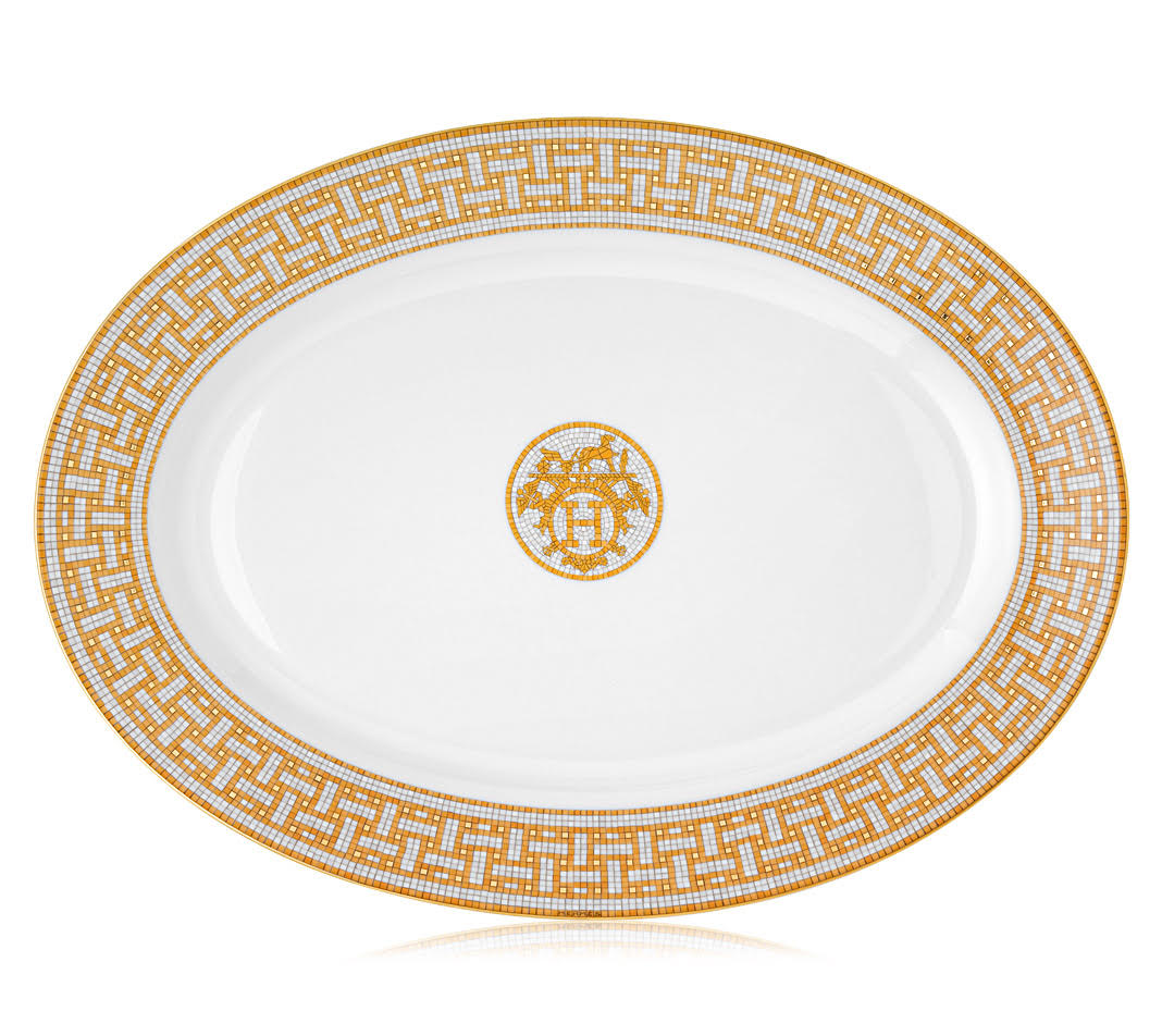 Mosaique au 24 Gold Large Oval Platter