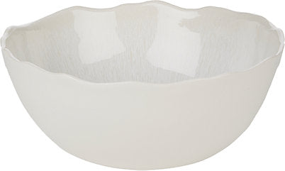 Plume White Serving Bowl