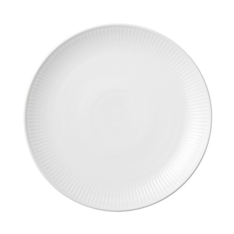 White Fluted Plain Coupe Salad Plate