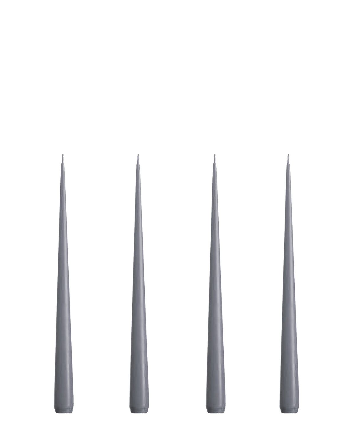 Lacquer Short Taper Candles Set of 4, Charcoal