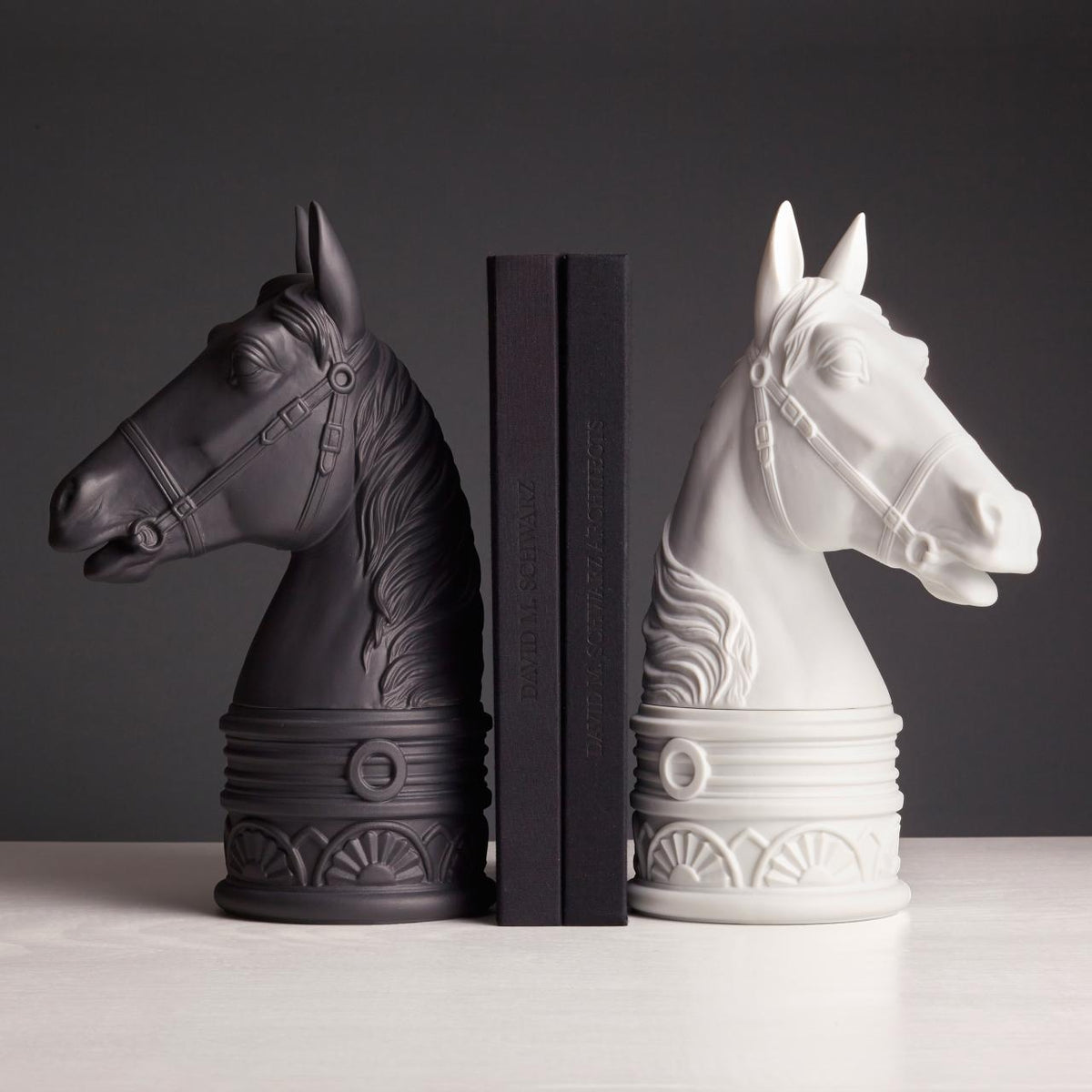 White Horse Bookend