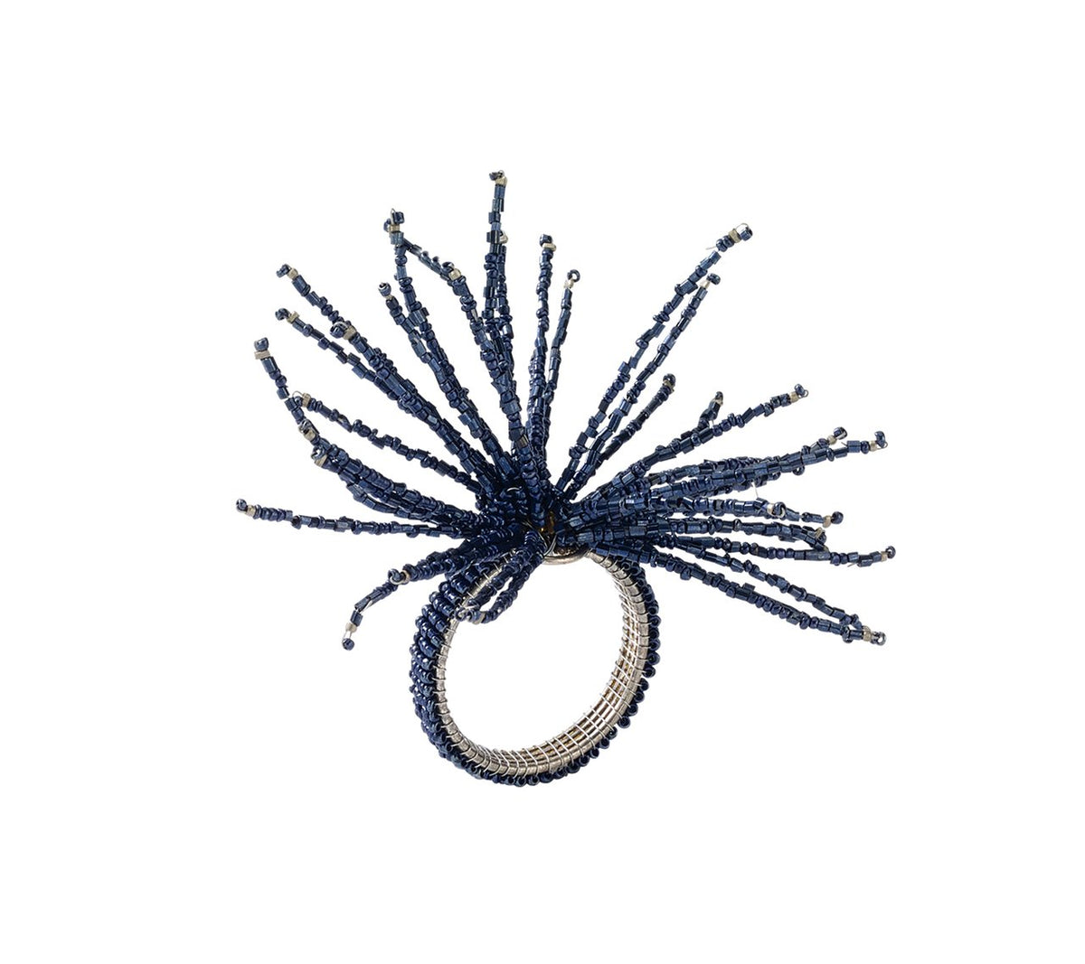 Spider Beaded Burst Napkin Ring, Set of 4