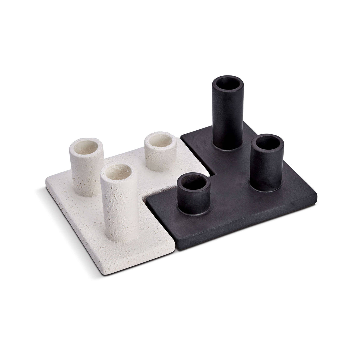 Cubisme Candle Holder White