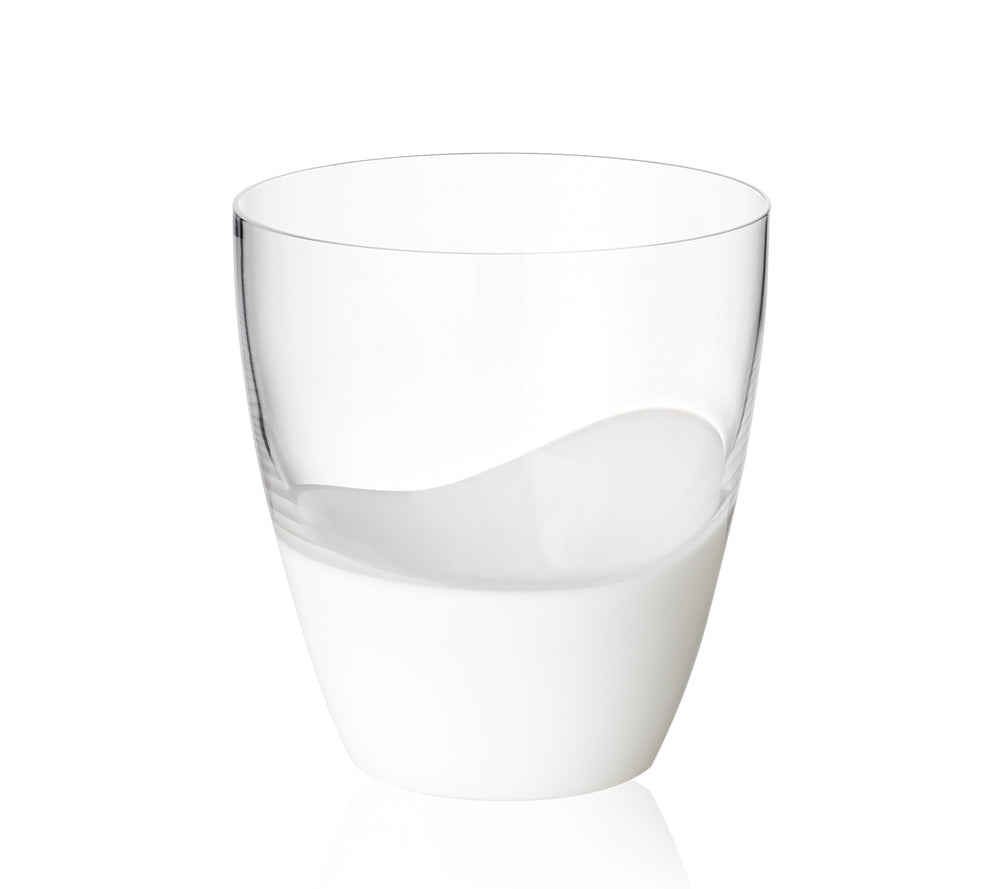 Vague Double Old Fashioned in White, Set of 4