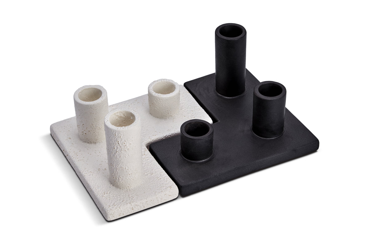 Cubisme Candle Holder Black