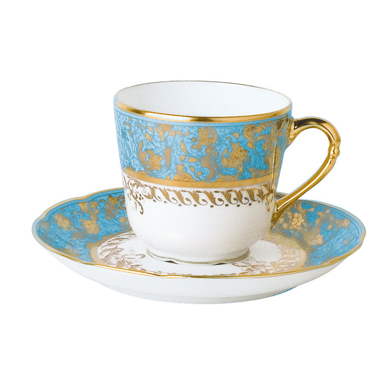 Eden Turquoise Coffee Cup and Saucer