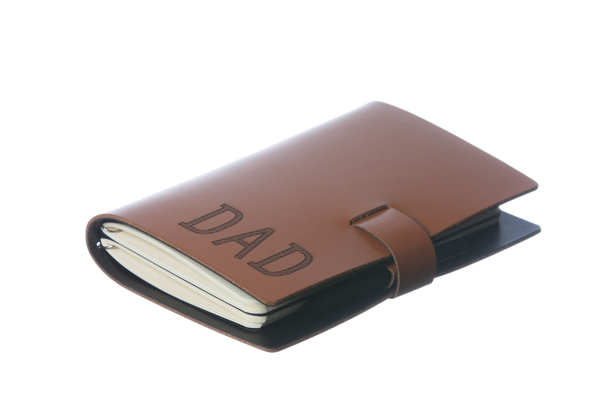 Small Taupe Elaine Leather Notebook