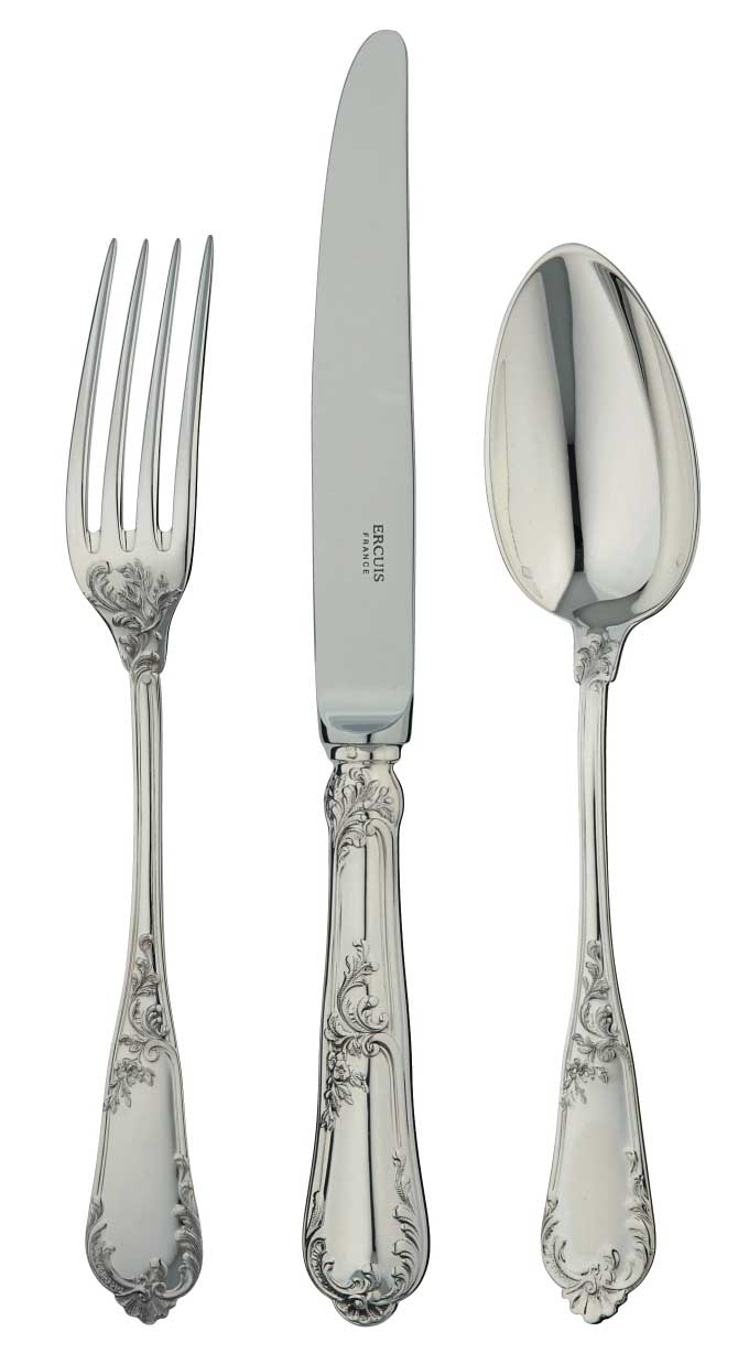 Rocaille 5-Piece Sterling Flatware