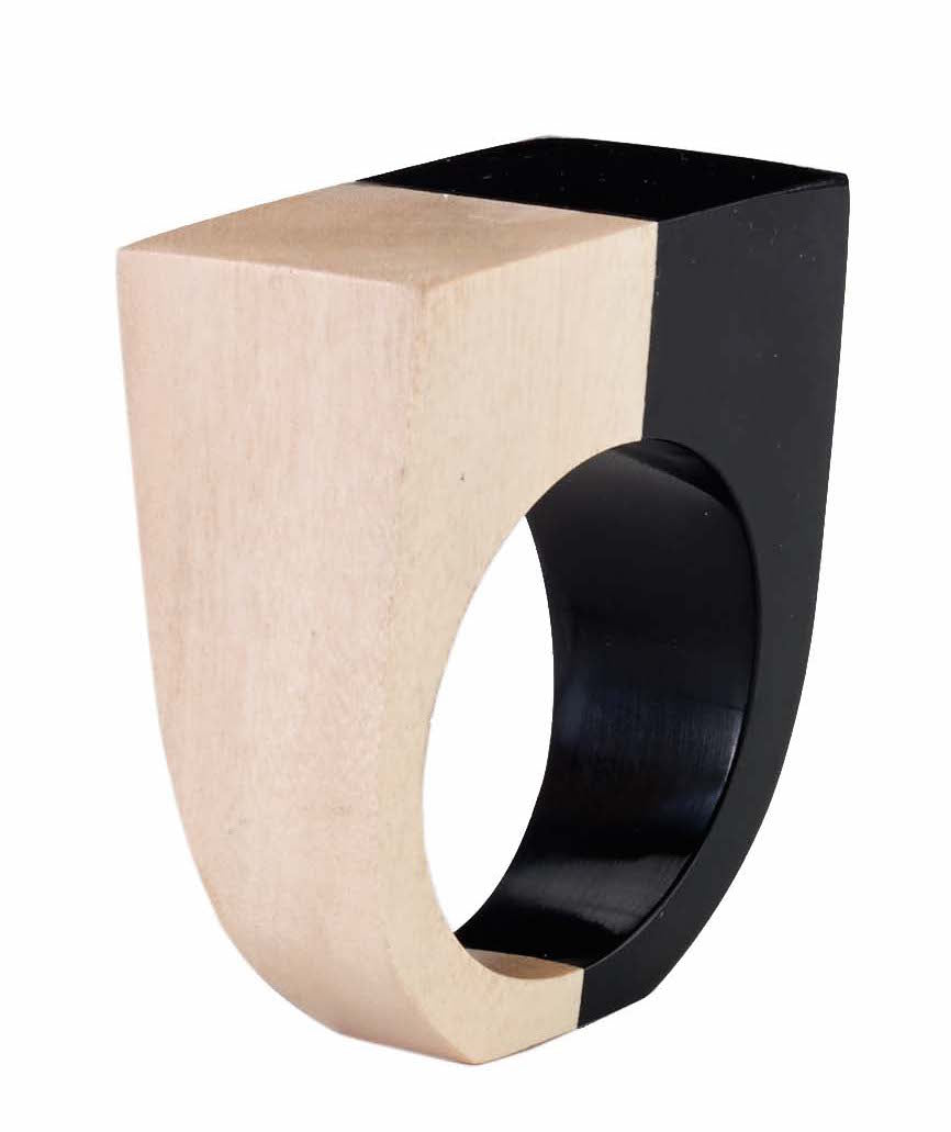 Gemini Black Napkin Ring