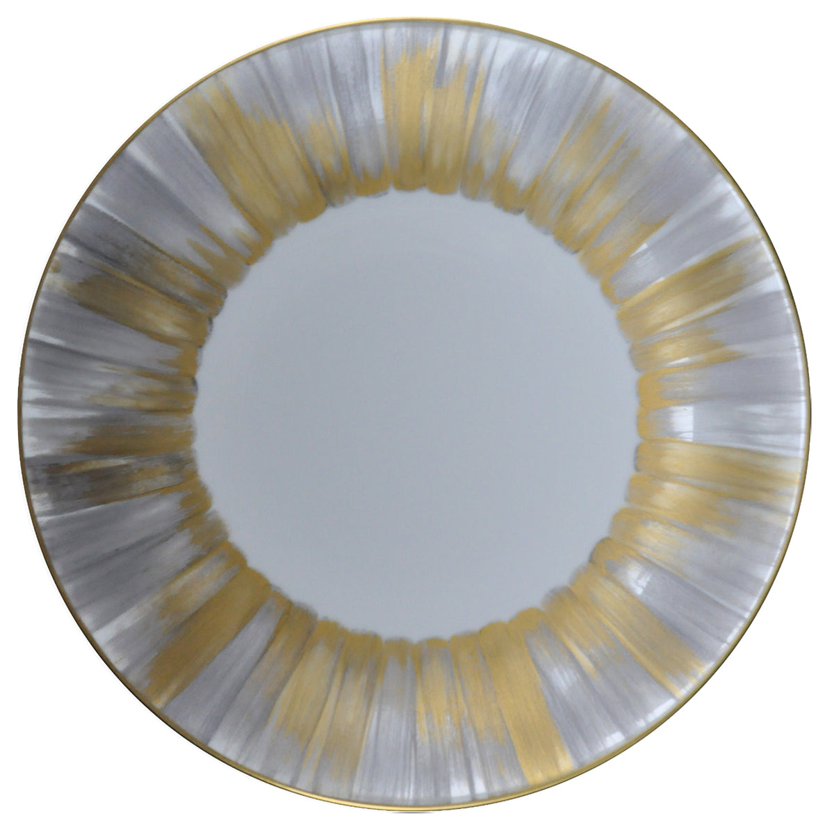 Panache Presentation Plate Silver and Gold