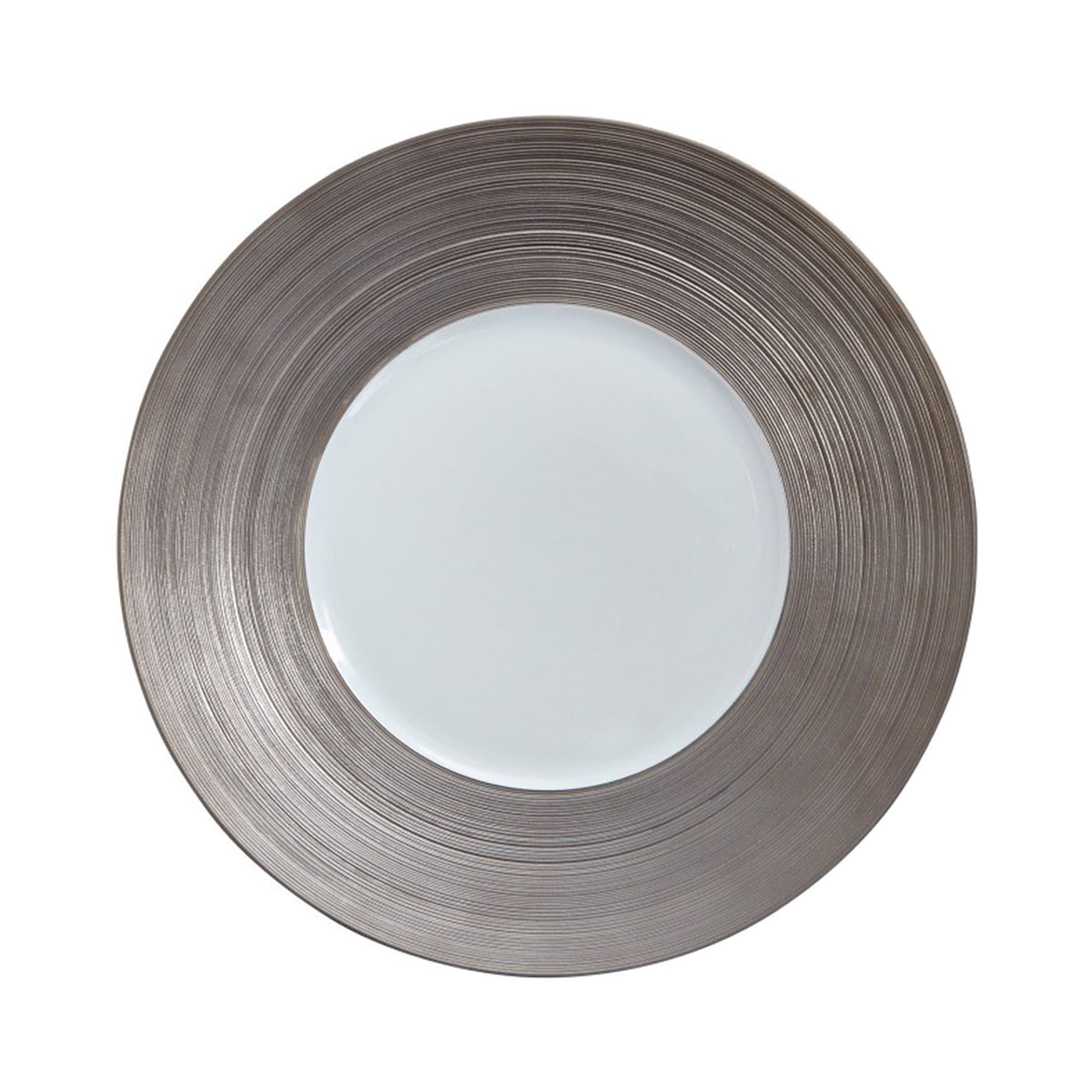 Hemisphere Platinum Large Porcelain Center Dinner Plate