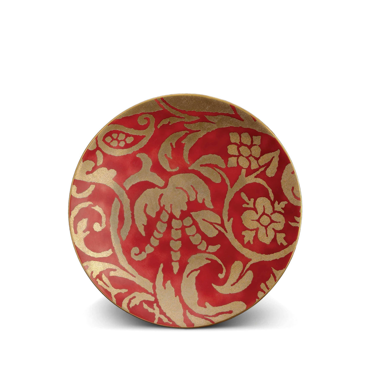 Fortuny Uccelli Dessert Plate - (Red) - Set of 4