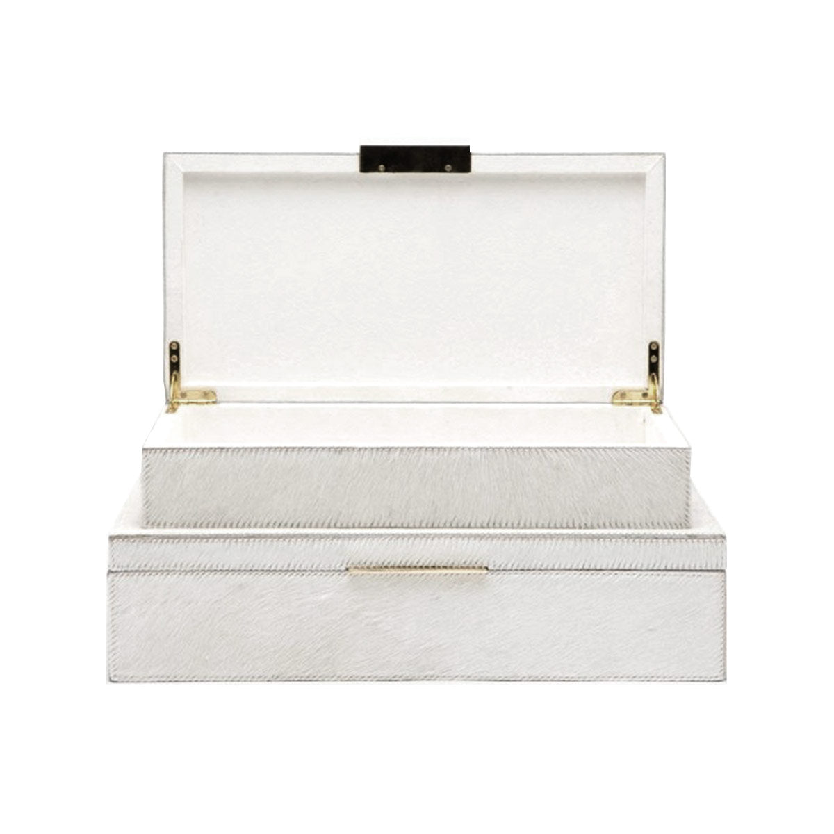 Ralston White Hair-On-Hide Small Box