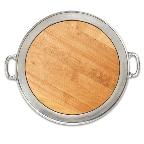 Large Round Cheese Tray with Handles