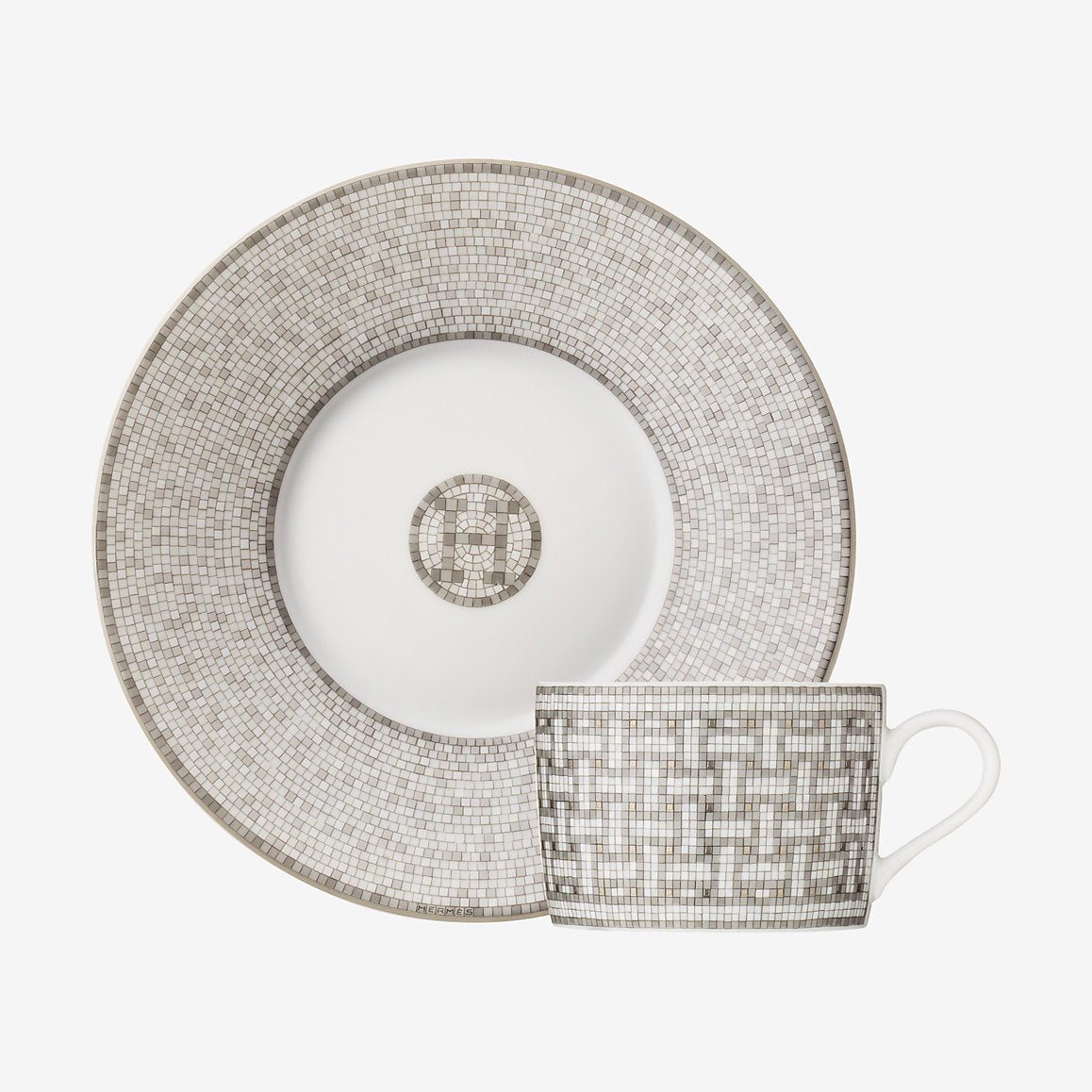 Mosaique au 24 Platinum Tea Cup and Saucer- CALL 212-257-5655 TO ORDER