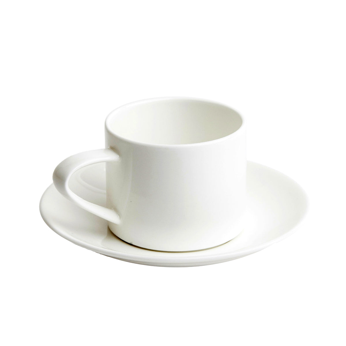 A Table Stackable Coffee Cup and Saucer