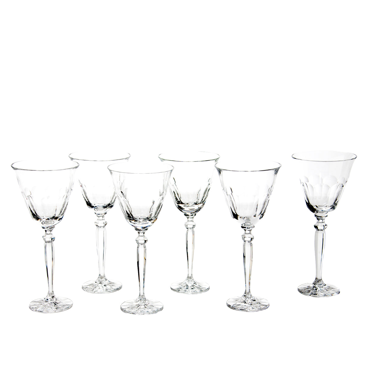 Set of 6 Large Orleans Glasses