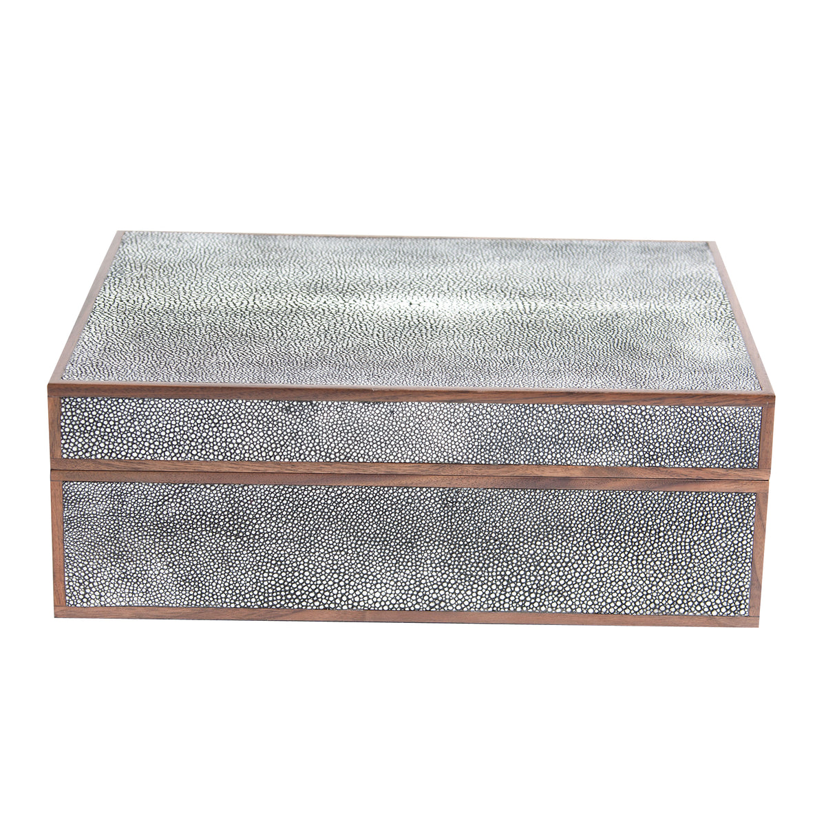 Cooper Shagreen Large Box - Gray