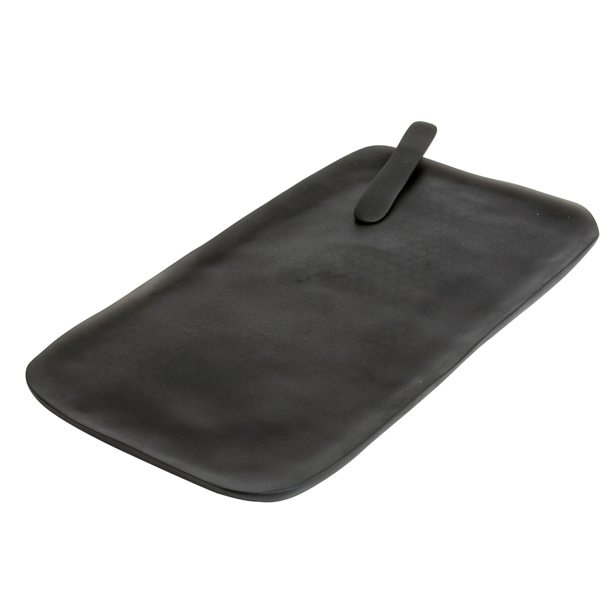 Large Grey Serving Board with Cheese Spreader