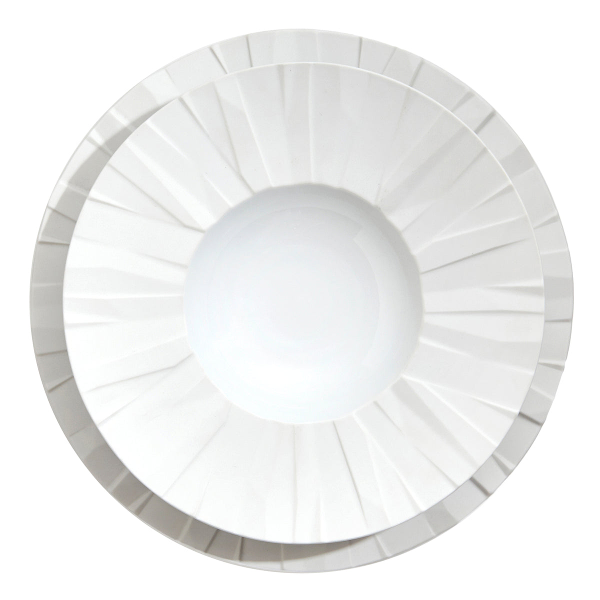 Matrix White Porcelain Dinner Plate