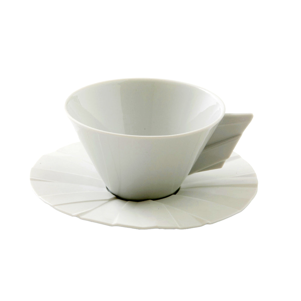 Matrix Porcelain Tea Cup & Saucer
