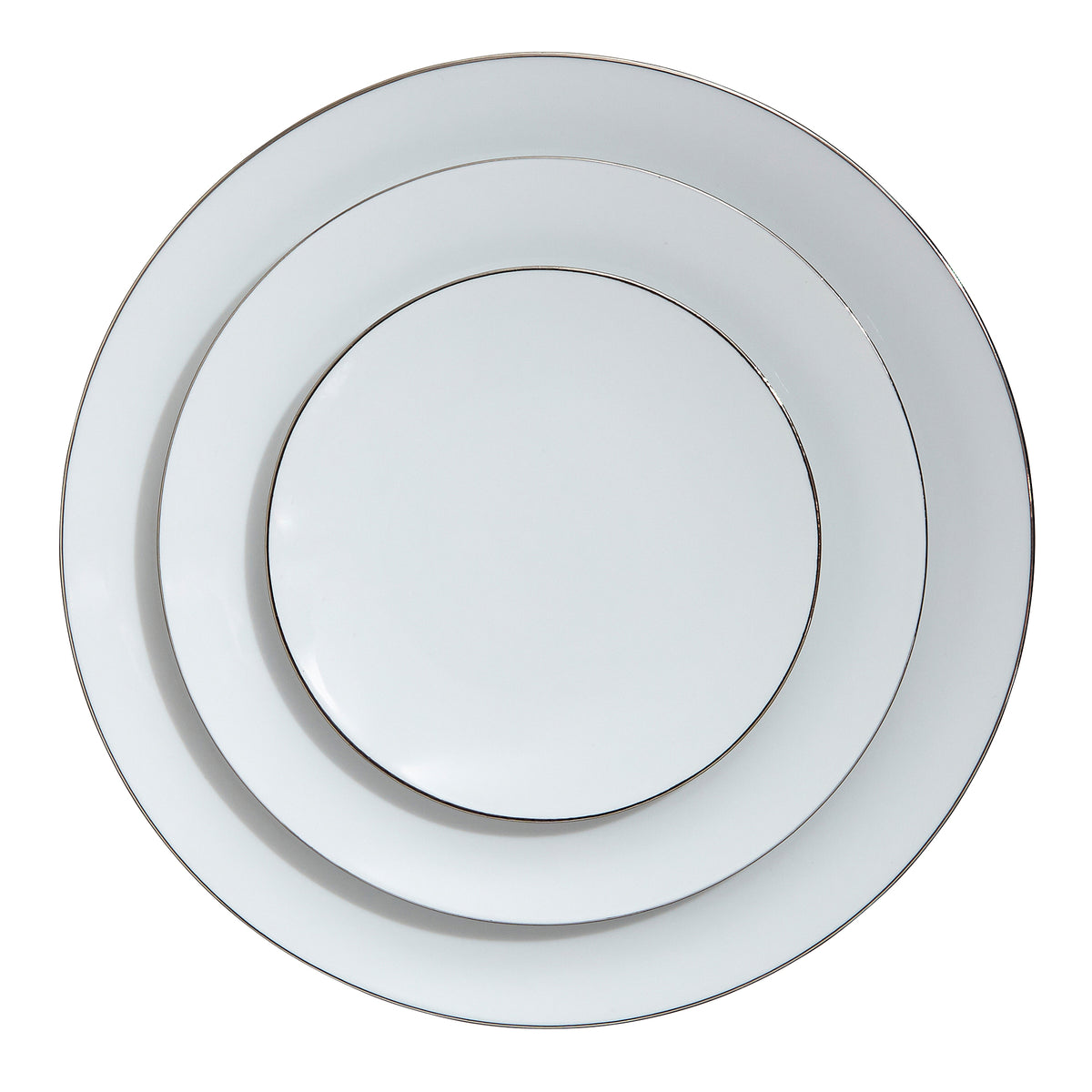 Platinum Filet Porcelain Bread and Butter Plate