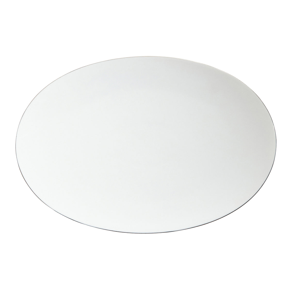 Platinum Filet Porcelain Platter Plate