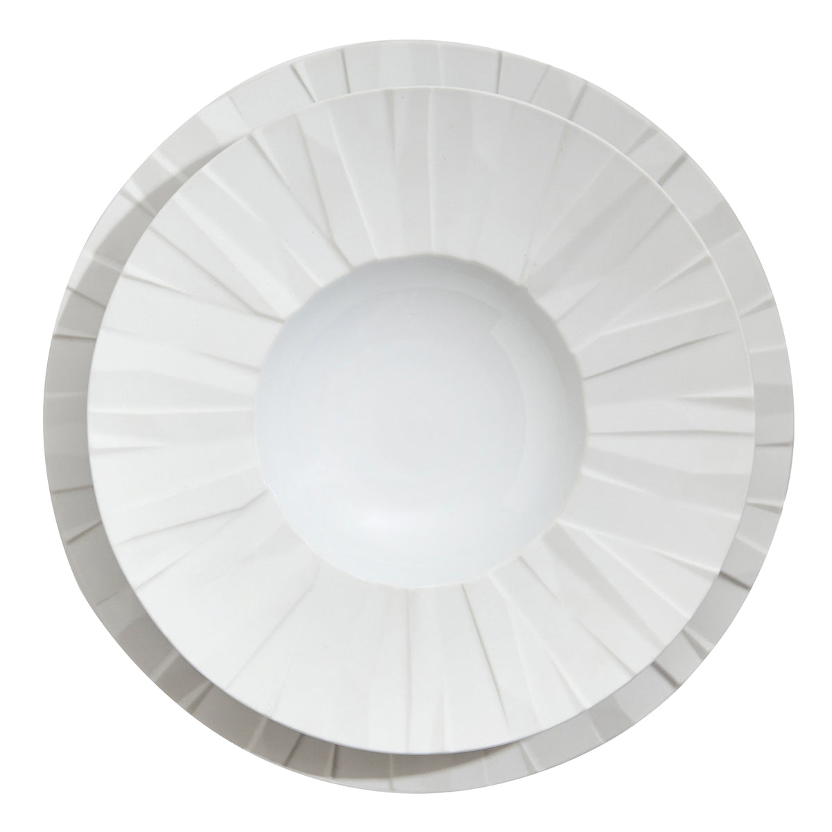 Matrix White Porcelain Soup Plate
