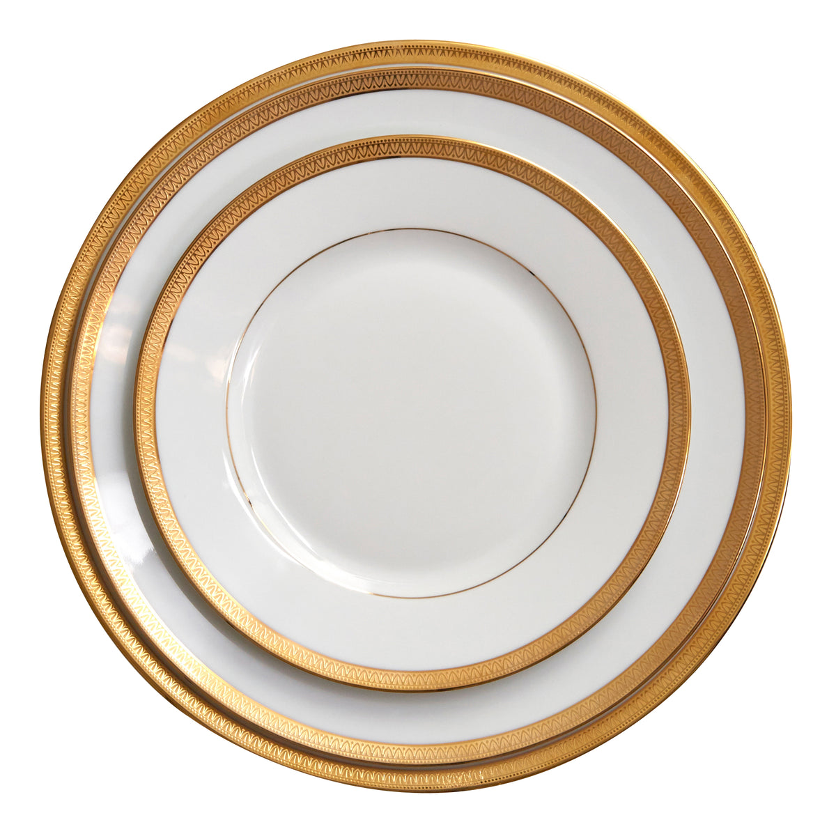 Arc En Ciel Malmaison Gold Dinner Plate